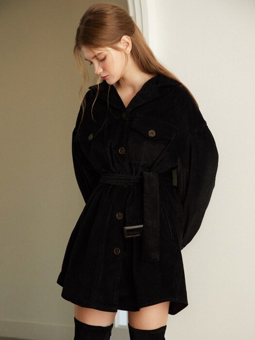 2Way Corduroy Dress_Black
