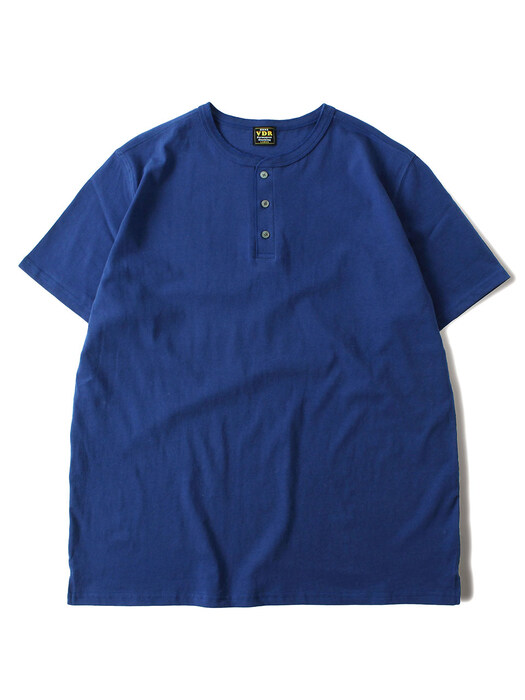 COZY HENLY NECK T-SHIRT [Blue]