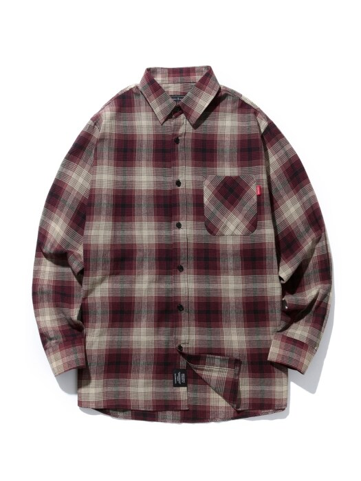 18FW CHECK SHIRT (RED)