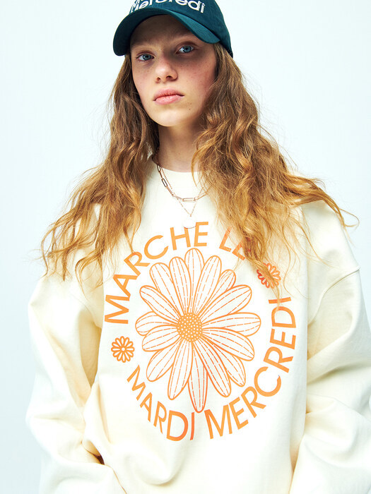[EXCLUSIVE] SWEATSHIRT  MARCHE LOGO  CREAM