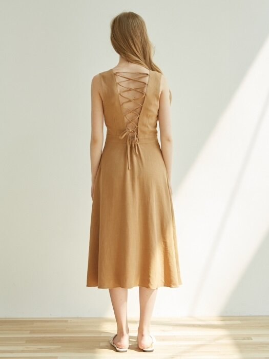 BACKLESS OP_CAMEL BEIGE