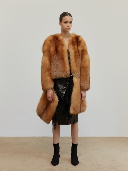 Detachable Red Fox Coat