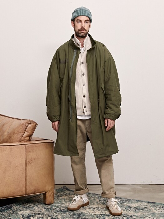 DUMBLE OVER FISHTAIL PARKA - KHAKI
