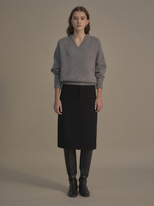 Couch wool skirt (Black)