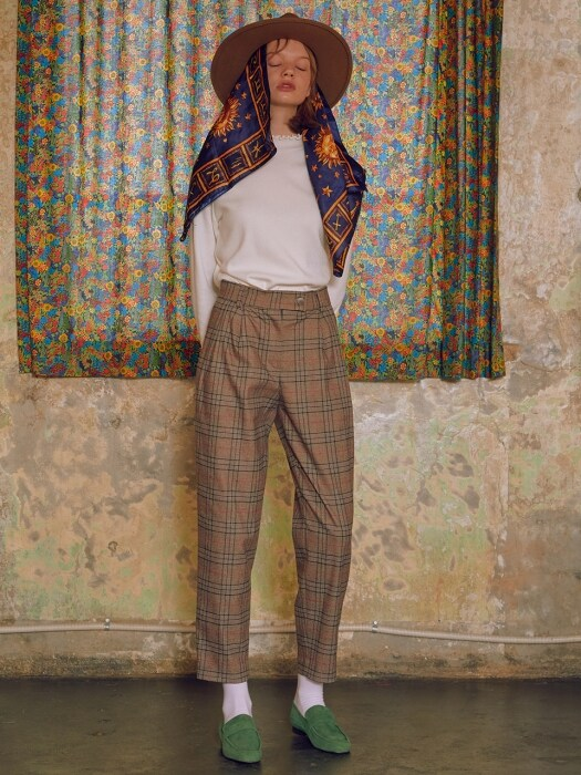 [듀이하트듀이] WINTER CHECK PANTS_BROWN