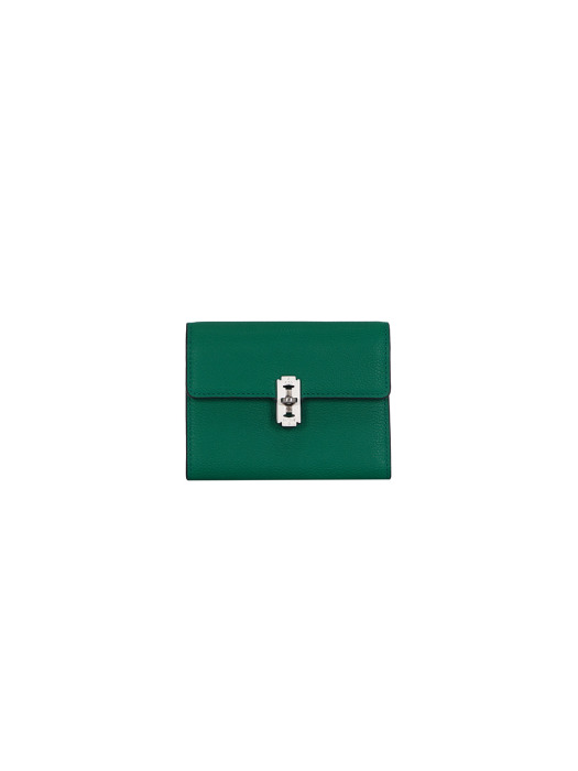 Perfec folded middle wallet (퍼펙 3단 중지갑) Dreamy green