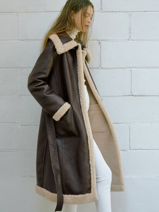 [FRONTROW X RECTO.] Reversible Eco Shearing Coat