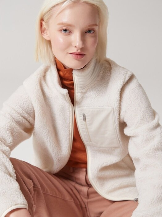 Soft Sherpa Zip-up Jumper
