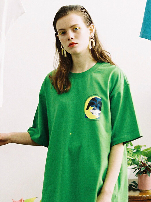 [LIFUL X JORDY] MOON TEE green