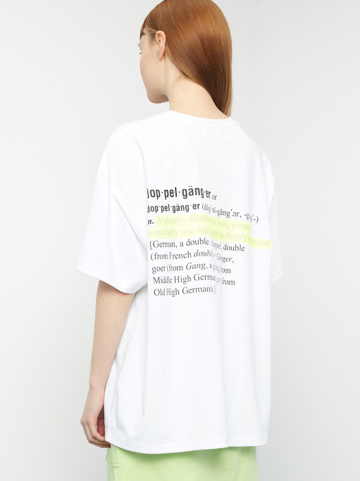 [UNISEX] R OVERSIZE HIGHLIGHTER T-SHIRT