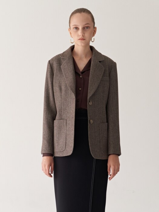 19FW NOTCHED COLLAR WOOL BLAZER_2COLORS