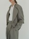 Museu round space jacket ( Grey)