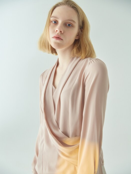 Draping rose blouse