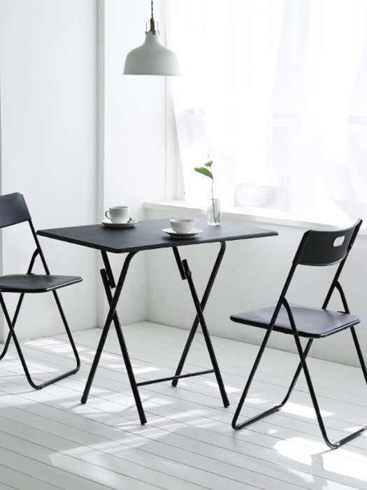 Black Urban Folding Table - Square_L