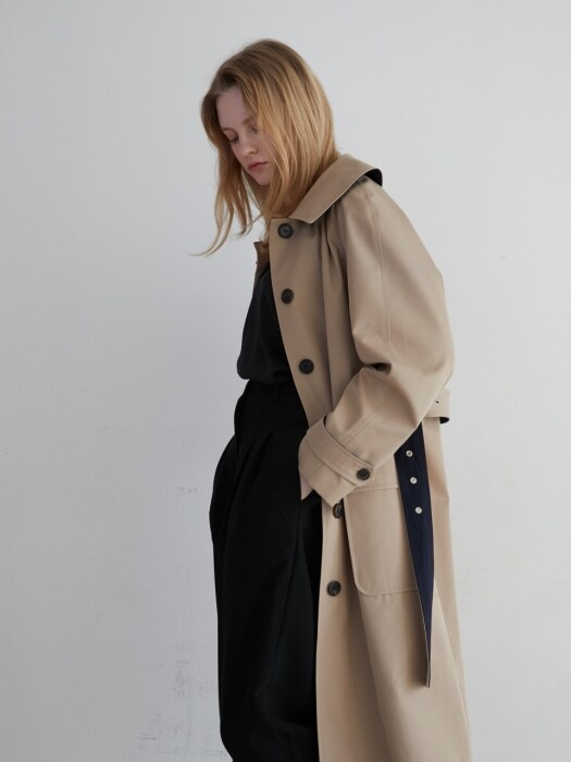 19' SPRING_Tan-Beige Single Trench Coat