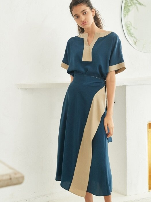 silk tunic two-piece