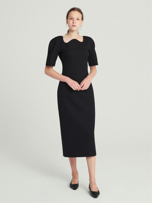 STRUCTURED DRESS (BLACK)