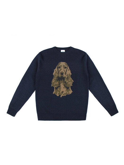 COCKER WOOL KNIT (NAVY)