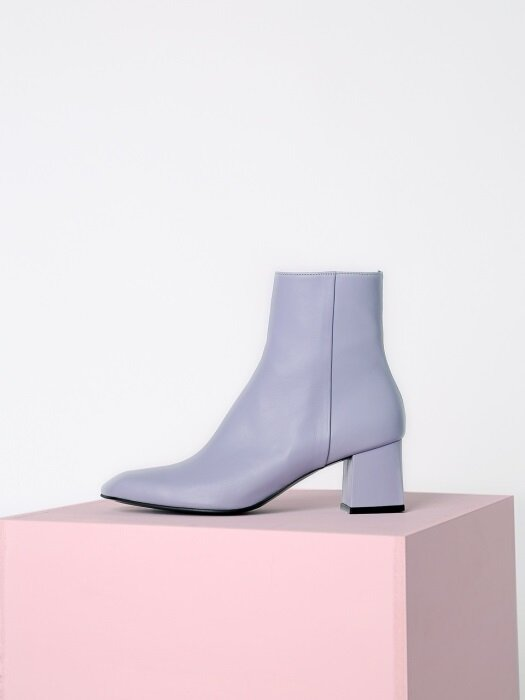 [리퍼브][250]ANGULATE ANKLE BOOTS - LIGHT PURPLE