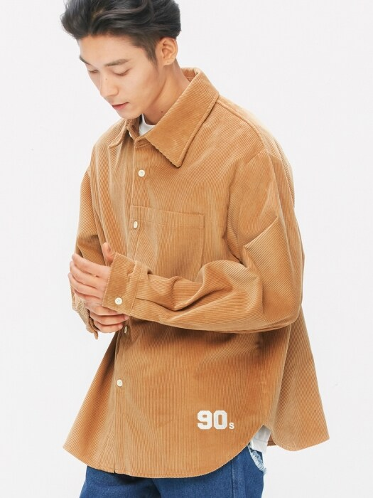 8`s Corduroy 1990 Shirts-Jacket (brown)