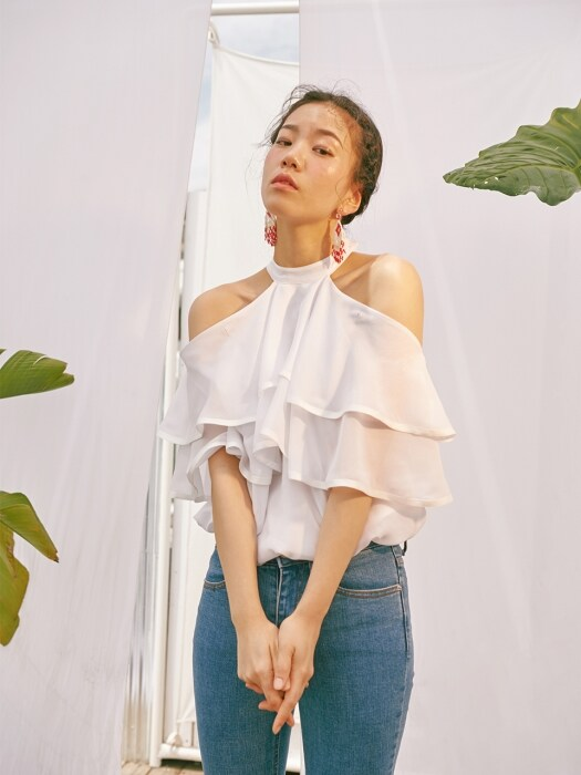 THREE WAY OFF SHOULDER BLOUSE_white