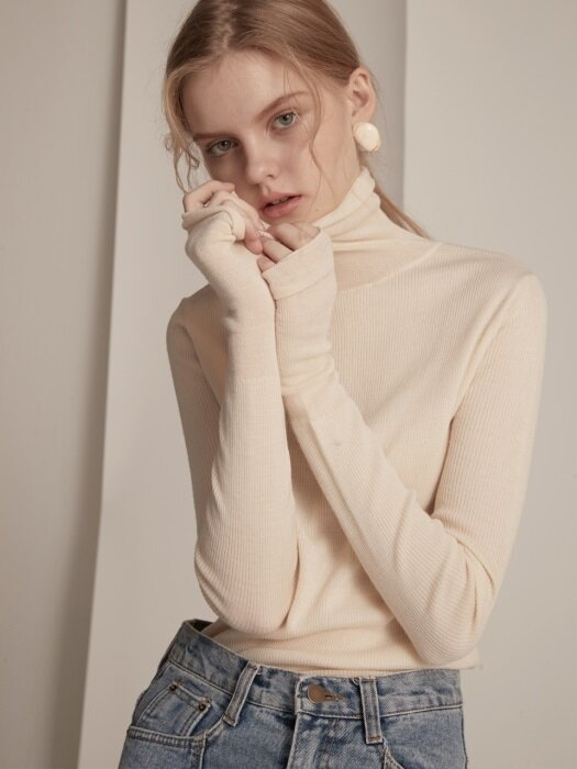 Cashmere Blended 16Gaze Pullover Knitwear - Cream