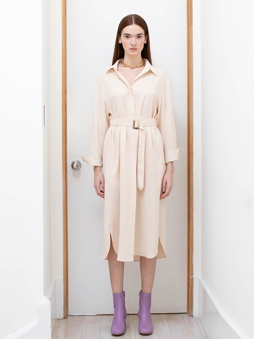 SEOUL oversized shirt dress(Oatmeal)
