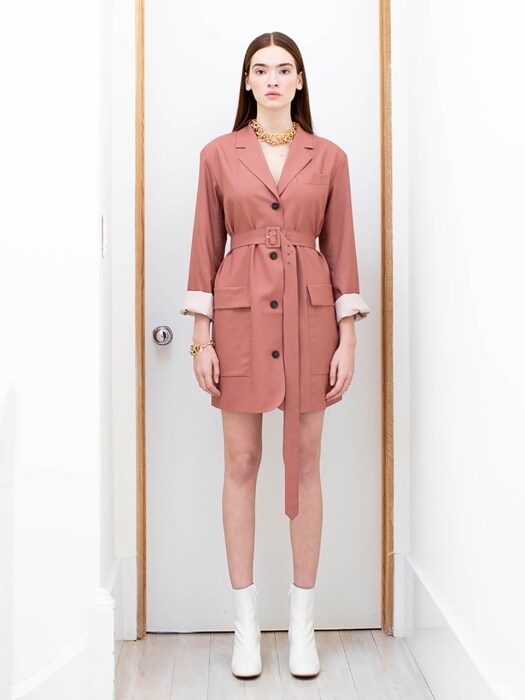 WEST VILLAGE blazer dress (Indie pink)