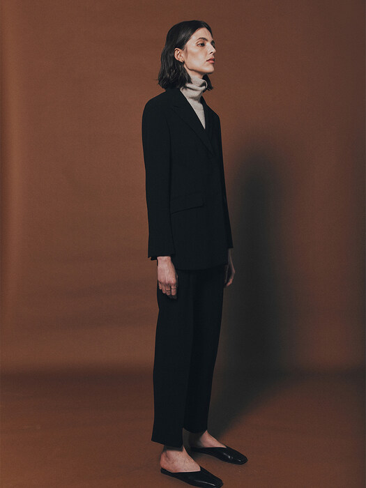 [Drama Signature] Double Blazer + One Tuck Tapered Trousers SET