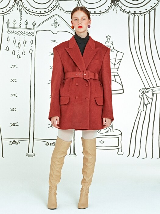 Tailor Made Coat _ Wine