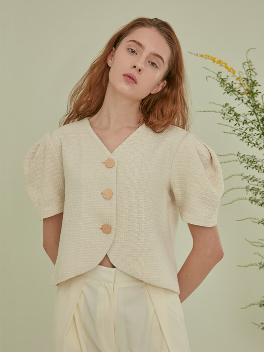 PUPA BLOUSE - RUSTIC IVORY