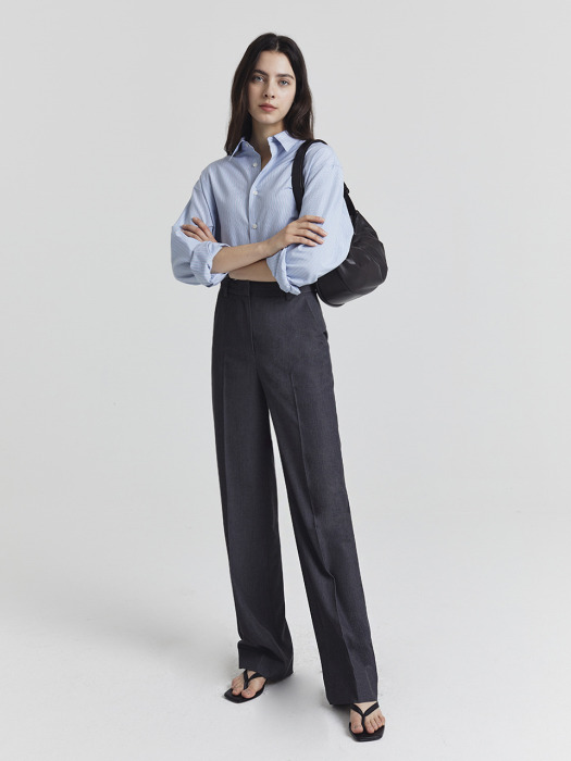 SEMI-WIDE SLACKS CHARCOAL GREY_UDPA1E209G3
