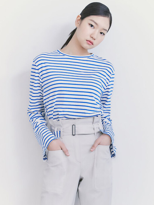 Essential Stripe TShirts  Blue (KE1240M03P)