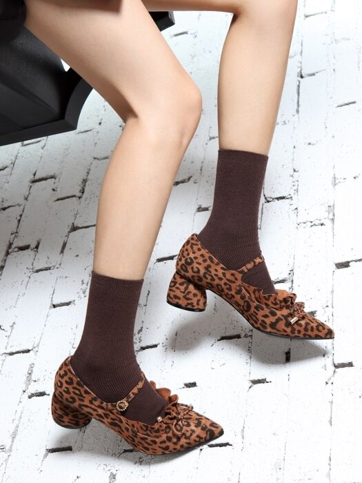 It`s Adorable Mary Jane Suede Leopard Brown_0051