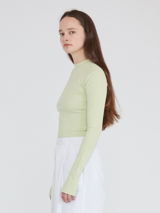 LONG SLEEVE TEE WOMEN [LIME]