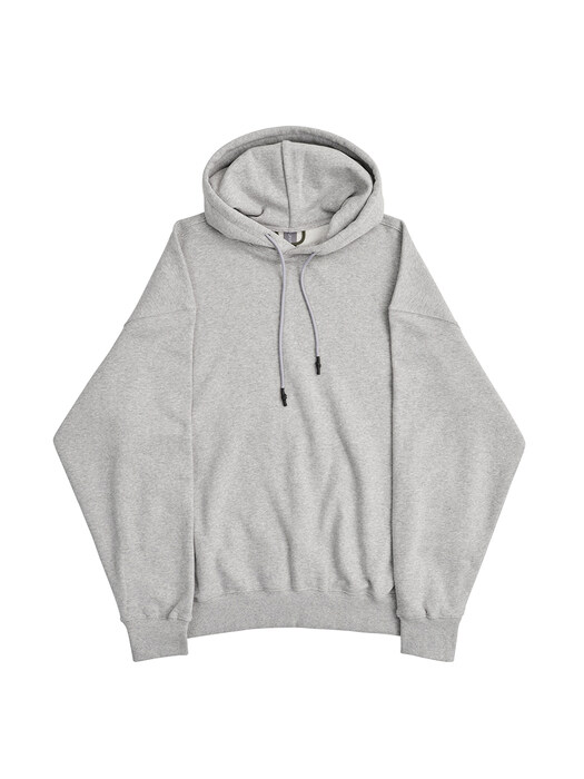LOGO LABEL HODDIE SWEATSHIRT / GREY
