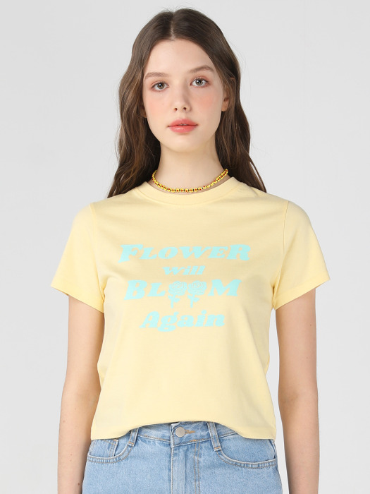 FWBA crop T shirts [Yellow]