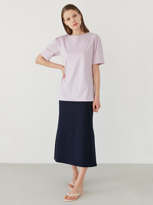 cotton half sleeve tee-lightpurple