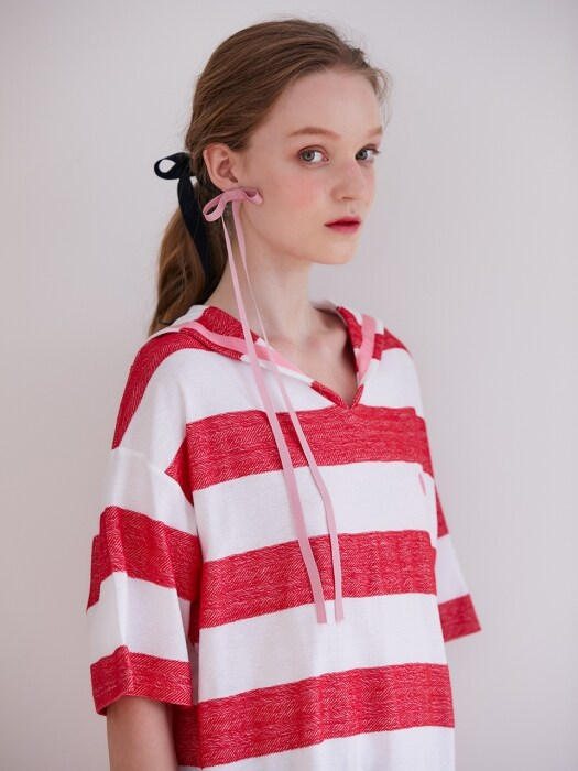 19FW PRE-FALL SAILOR STRIPE T-SHIRT_RED