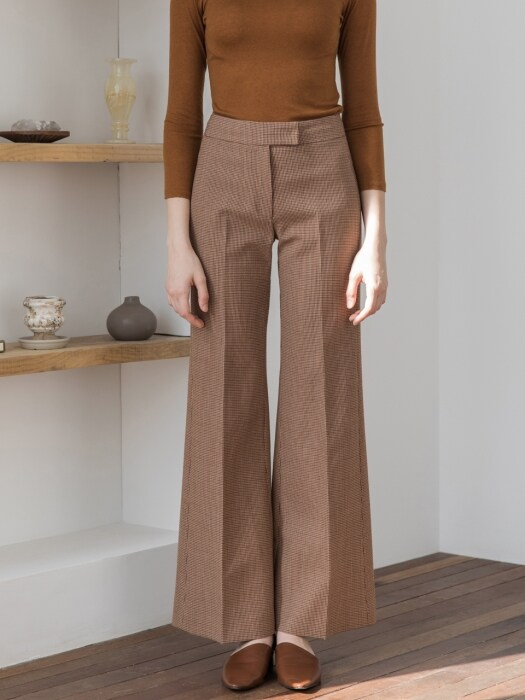 Bootscut Wide Wool Pants
