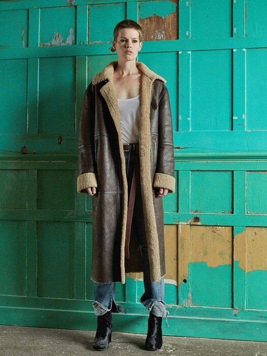 Lambskin Mustang Coat_brown,black