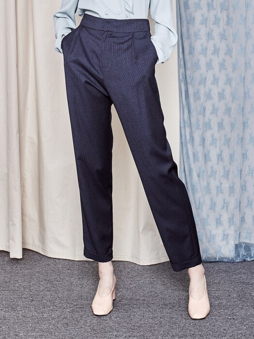 Stripe Banding Pants_NAVY