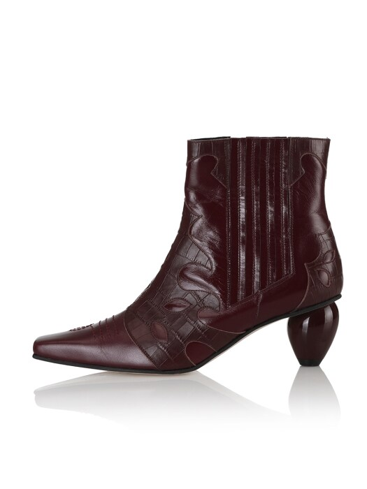 Rose boots / 20RS-B551 Wine+Burgundy