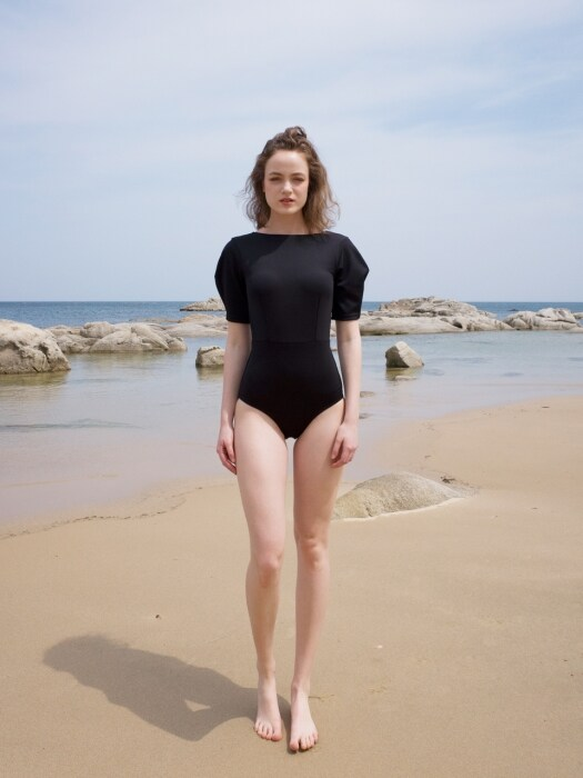 Sleeve swimsuit_black