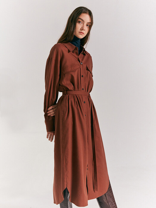 Belted over shirt dress SW0WO421-9P