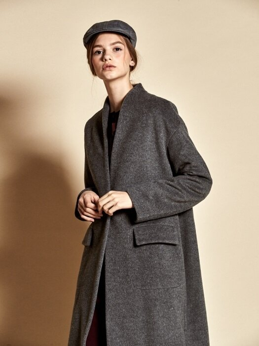 Simple Wool Coat_ Grey