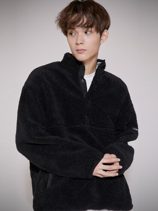 LT330_Pullover Anorak Fleece_Black