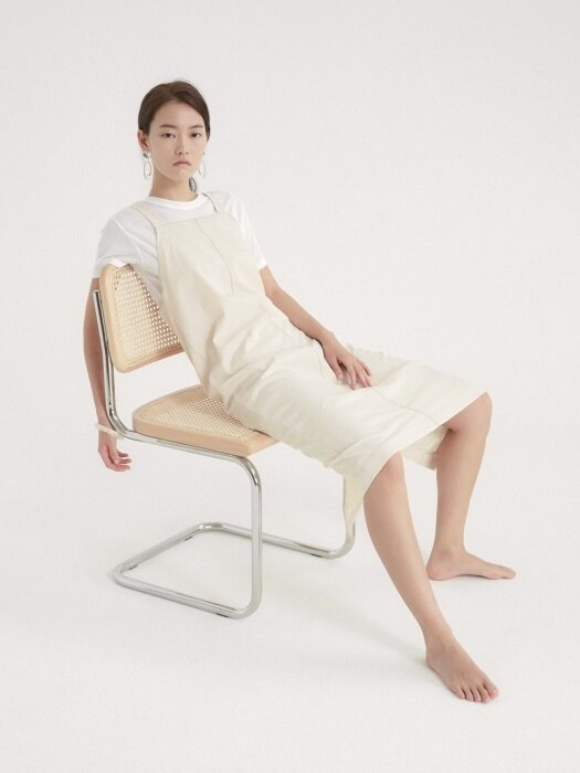 CAPSULE STITCH DRESS CREAM