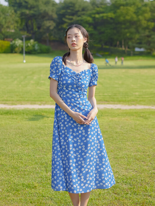 [EXCLUSIVE] DAISY PUFF SLEEVES ONEPIECE_BLUE