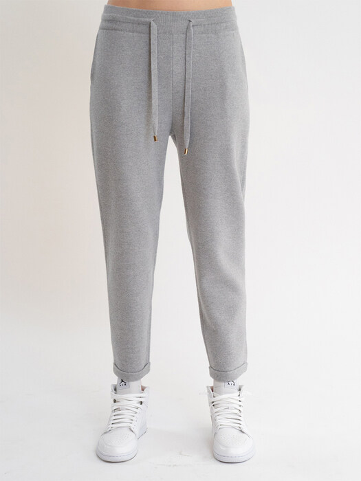 KKLL COLLECTION / PREMIUM BASIC KNIT JOGGER PANTS_GREY